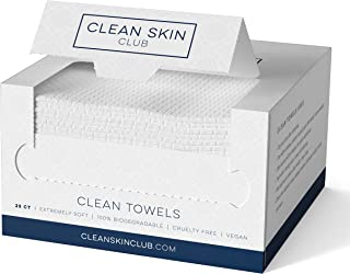 Clean Skin Club Clean Towels | Worlds 1ST Biodegradable Face Towel | Disposable Makeup Removing...