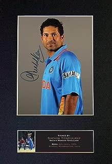 #548 Sachin TENDULKAR Signed Autograph Photo Reproduction Print A4 Rare Perfect Birthday (297 x 210mm) (Not Framed)