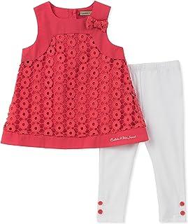Calvin Klein- Conjunto de pantalón y blusa para bebé, CKG0026-1, niña