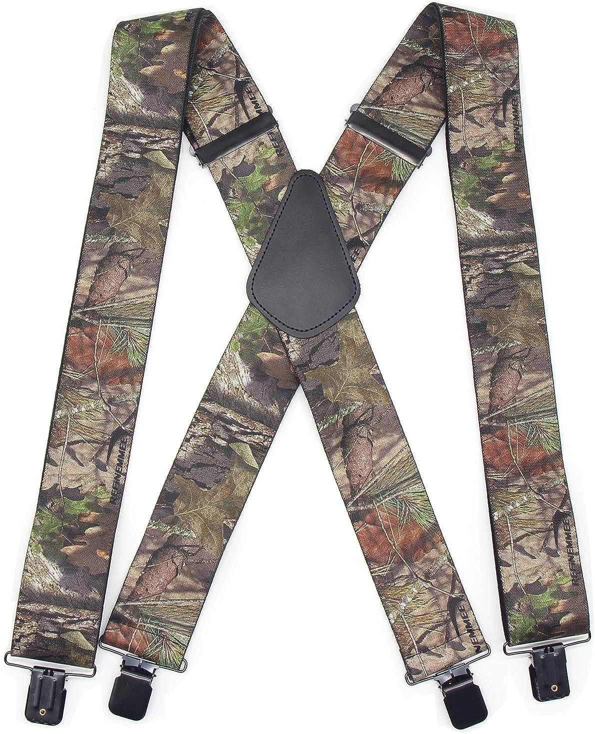 Trucker Side Clip Suspenders X-back for Hunting/Long Haul Truckers/Policemen/Bikers/Contractors,2
