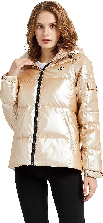 Orolay Women's Winter Down Coat Metallic Hooded Puffer Jacket