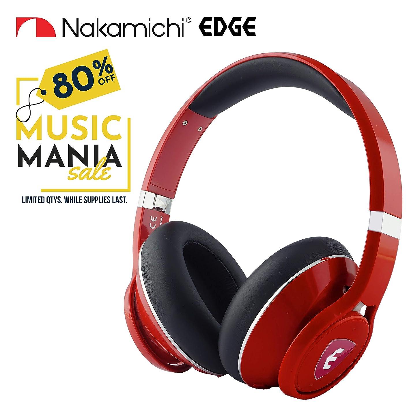 野心失敗マリンNakamichi Edge デュアルドライバー ワイヤレスヘッドホン アクティブノイズキャンセリング付き Edge (Red)