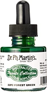 Dr. Ph. Martin's SPEC10OZS22PC Spectralite Private Collection Liquid Acrylics (22PC) Arcylic Paint Bottle, 1.0 oz, Forest ...