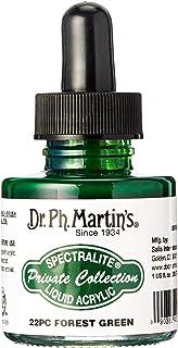 د. ف. زجاجة طلاء أكريليك سائلة المجموعة الخاصة Spectralite من Martin's SPEC10OZS22PC (22PC) من الأكريليك، 1 أونصة، أخضر ال...