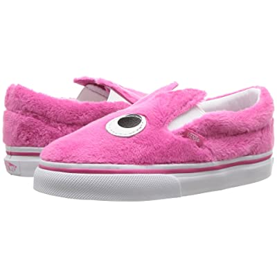 Vans Kids Slip-On Friend (Infant/Toddler) ((Party Fur) Magenta/True White) Girls Shoes