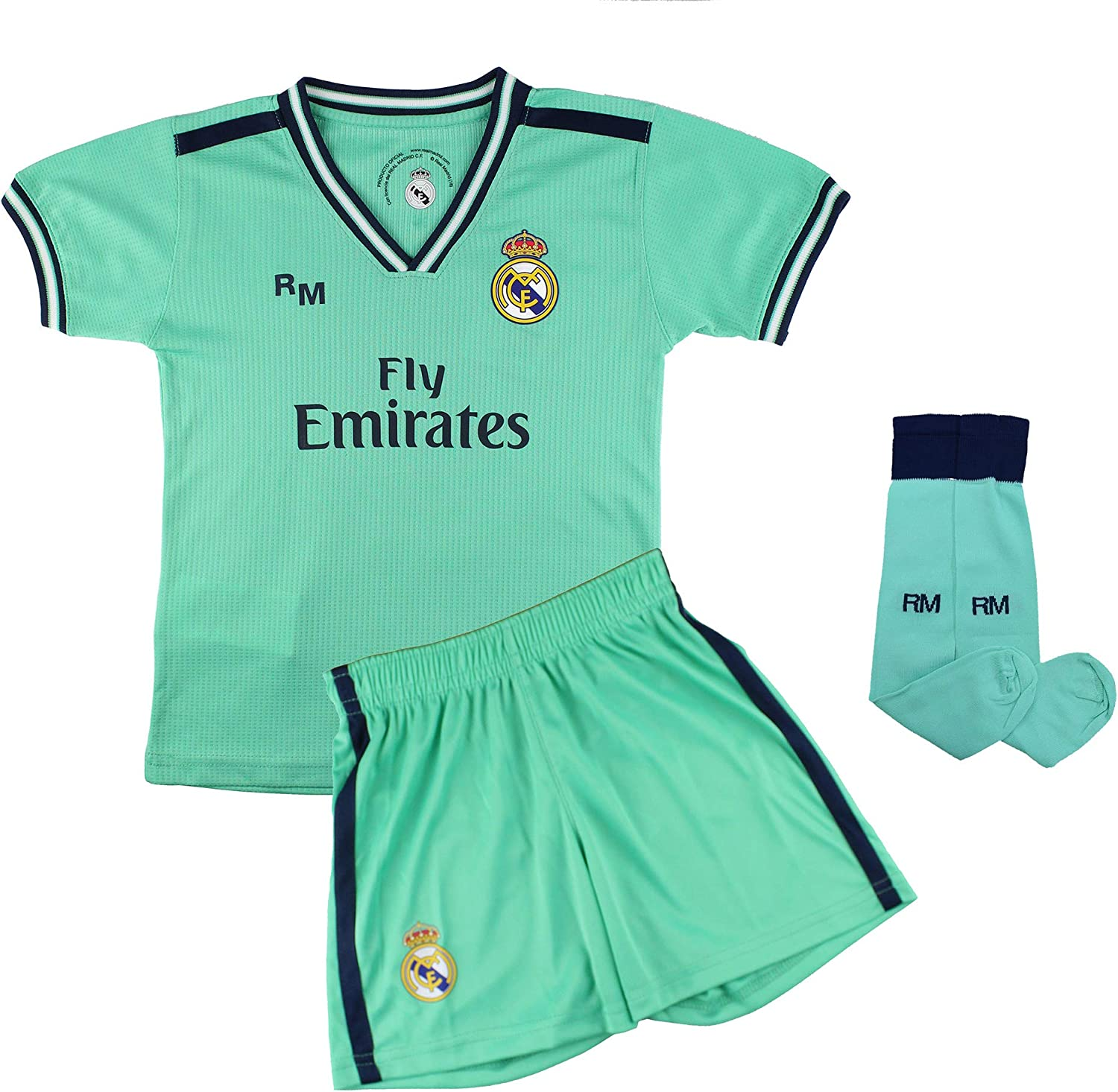 2020 Season 2019 Champions City Complete Set for Children Real Madrid Official Licensed Replica of the First Kit Smooth Back