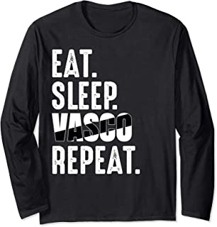 Vasco da Gama Funny Eat Sleep Repeat Soccer Brazil Long Sleeve T-Shirt