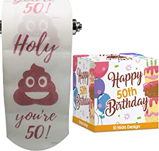 50th Birthday Toilet Paper - Happy birthday toilet paper prank– Funny 50th birthday gifts for men and women– best friend b...