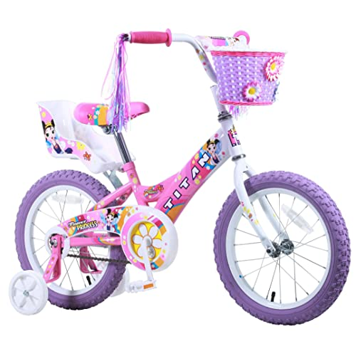 deb75f43554 Titan Girl's Flower Princess BMX Bike, Pink, 16-Inch