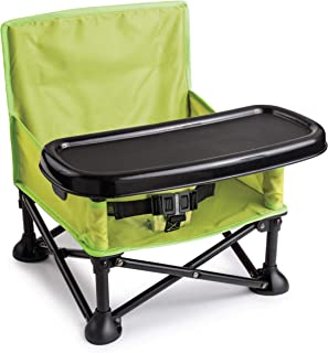 Summer Infant Pop and Sit Portable Booster, 13404, Green/Grey