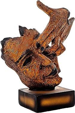 TIED RIBBONS Human Face Showpiece Sculpture Figurine for Wall Shelf House Warming Office Indoor Outdoor Garden Living Room De