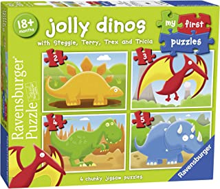 Ravensburger 7289 Jolly Dinos My First Puzzle 2 3 4 5pc,Children's Puzzles