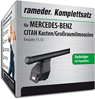 Rameder Komplettsatz, Dachträger Tema für Mercedes Benz CITAN Kasten/Großraumlimousine (118880 10861 1)