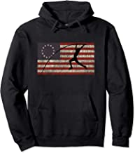 Patriotic Betsy Ross Flag Pole Vault Fourth Of July Pullover Hoodie