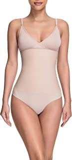 Squeem - Celebrity Style, Women's Medium Compression Soft Cup Shapewear Bodysuit