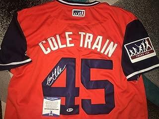 Gerrit Cole Autographed Signed Houston Astros Jersey Nickname Cole Train Ace Beckett - Authentic Memorabilia