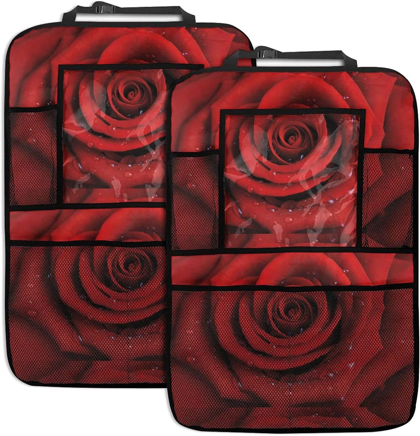 Rose Flower Car Seat Back Max Outlet SALE 42% OFF Organizer Function Multi Orga