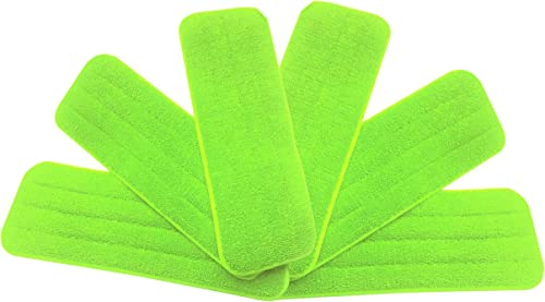Washable Microfiber Mop Head (6 Pack) - Microfiber Replacement Mop Pads 16 x 5.5 Inches for Cleaning of Wet or Dry Fl...