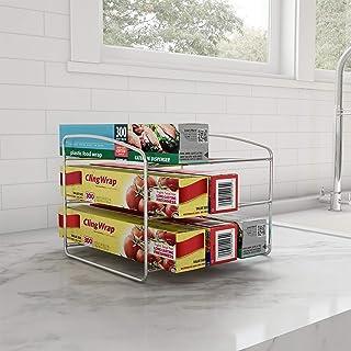 Lavish Home 83-154 Kitchen Wrap Storage Rack-3 Tier Pantry Foil Plastic Bags, Cabinet Organization for Wax, Parchment Pape...
