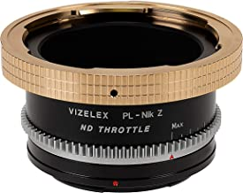 Fotodiox Vizelex ND Throttle Lens Mount Adapter - ARRI PL (Positive Lock) Mount Lens to Nikon Z-Mount Mirrorless Camera Body with Built-in Variable ND Filter (1 to 8 Stops)