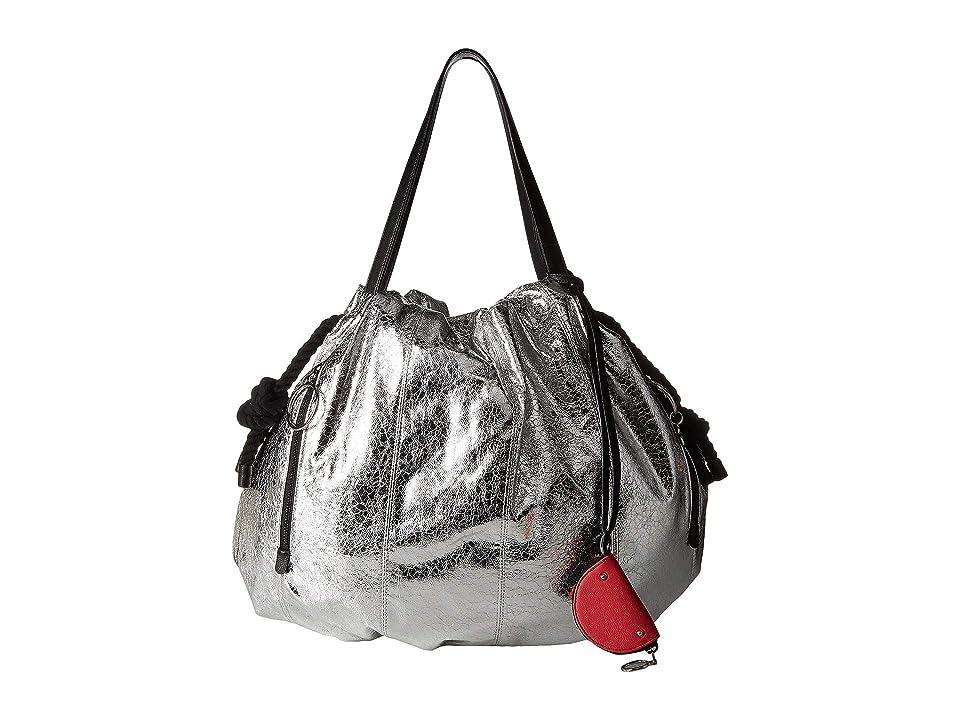 See by Chloe Flo Nylon Tote (Silver) Tote Handbags