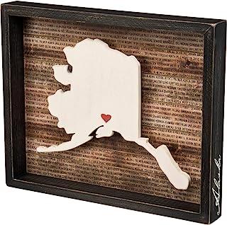 "Primitives by Kathy 28225 State Pride Box Sign, 15"" x 12.25"", Alaska"