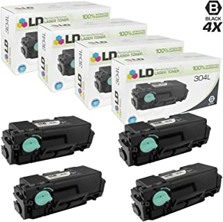 LD Remanufactured Toner Cartridge Replacement for Samsung 304L MLT-D304L High Yield (Black, 4-Pack)