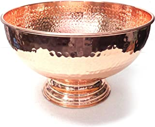 Hammered Copper Punch Bowl 12