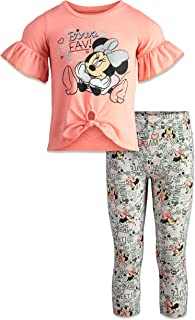 Minnie Mouse Girls Fashion Top and Leggings Set