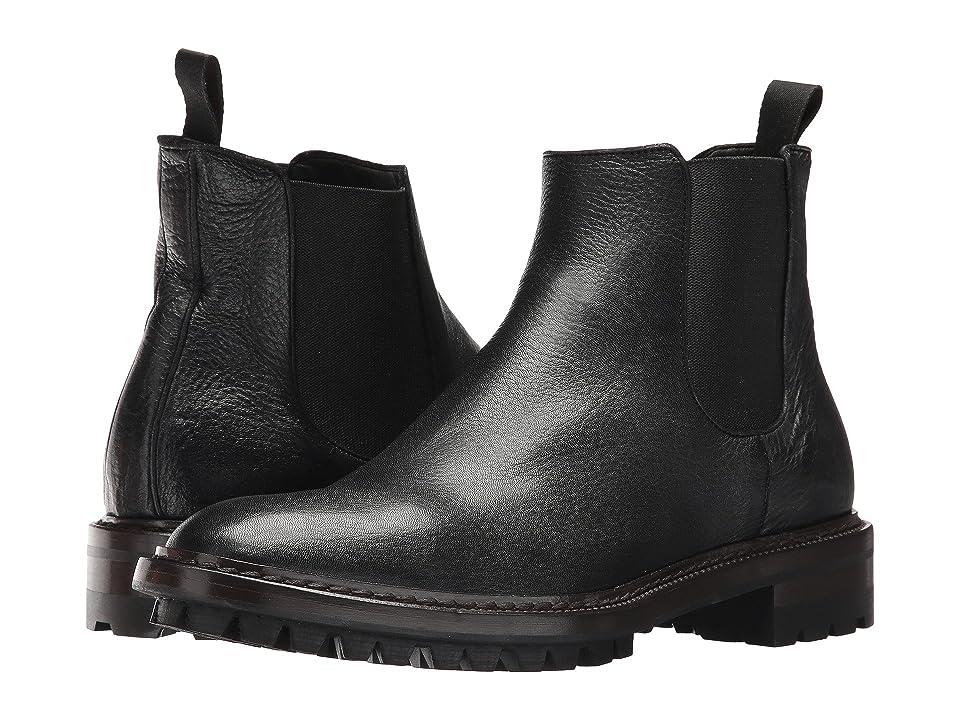 Frye Greyson Chelsea (Black Deer Skin Leather) Men