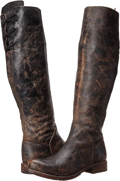 Black Rustic/Teak Rustic Leather