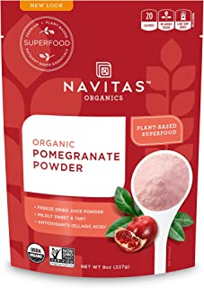 Navitas Organics Pomegranate Powder, 8oz. Bag, 45 Servings — Organic, Non-GMO, Freeze-Dried, Gluten-Free