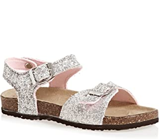 Joules Strapped Sandals - Silver Glitter