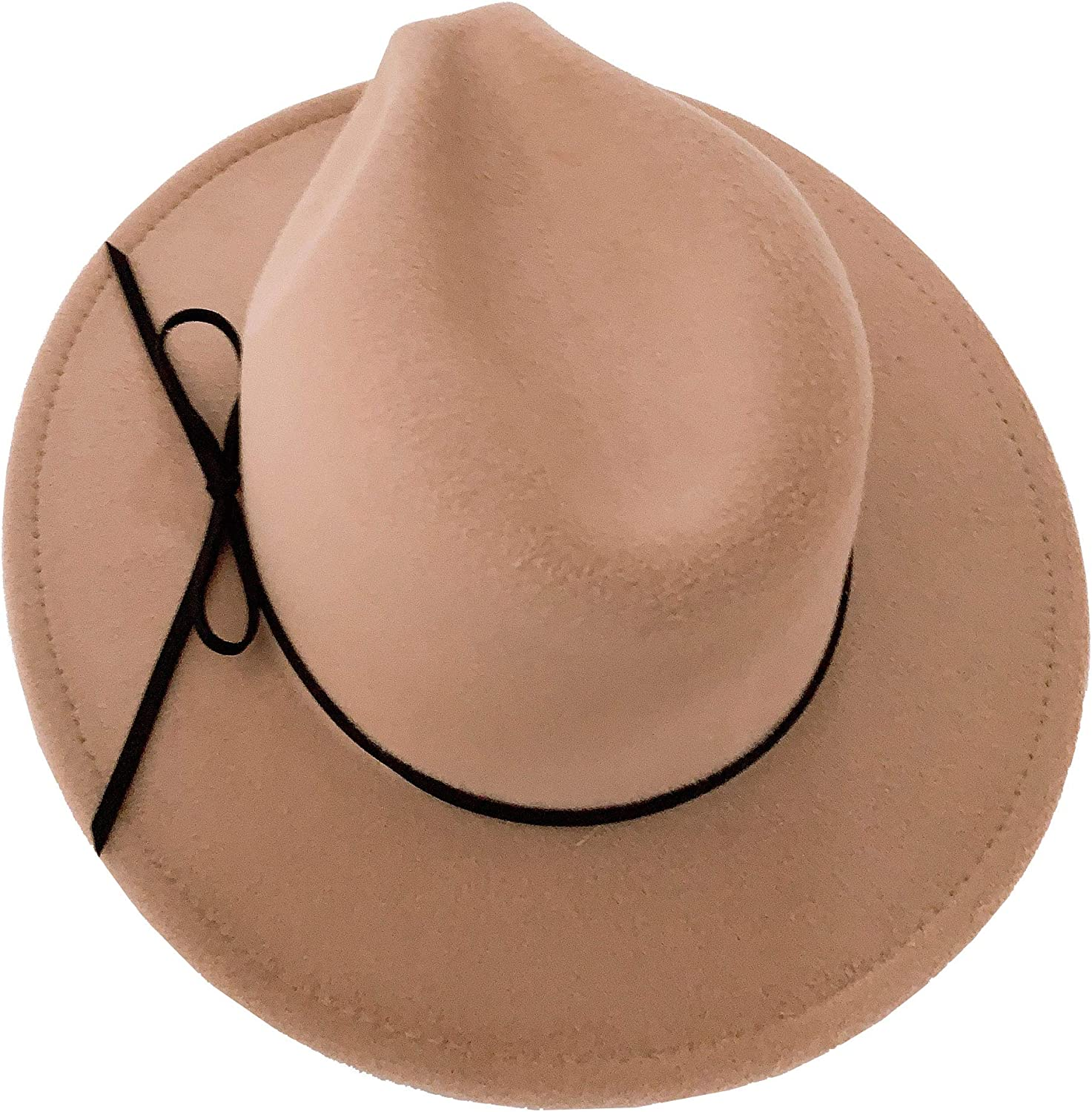 ModParty Women's Bow Wide Brim Fedora Hat Camel