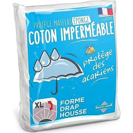 Sweethome | Protège Matelas Eponge Imperméable - Bouclette - Anti Acariens - Souple et Silencieux - Forme Drap Housse - 160x200 cm
