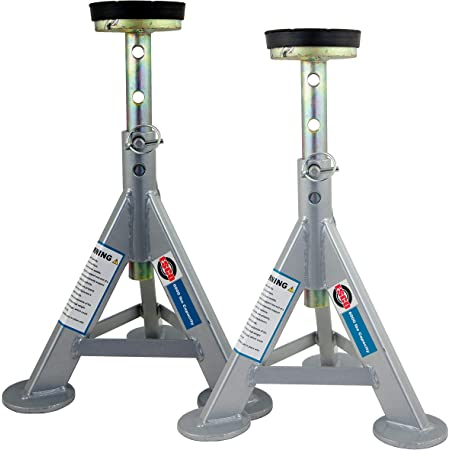 ESCO 10498 Jack Stands, 3 Ton Capacity, Pair of 2 Stands (Pack of 2)