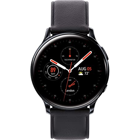 SAMSUNG Galaxy Watch Active 2 (44mm, GPS, Bluetooth, Unlocked LTE,) Smart Watch with Advanced Health Monitoring, Fitness Tracking, and Long lasting Battery, Aqua Black - (US Version)