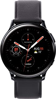 Samsung Galaxy Watch Active2 W/Enhanced Sleep Tracking Analysis, Auto Workout Tracking, and Pace Coaching (40mm, GPS, Bluetooth, Unlocked LTE), Aqua Black - US Version with Warranty