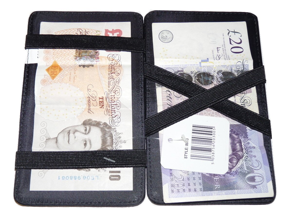 NEW SOFT REAL LEATHER MAGIC NOTE WALLETS PURSE MILKMAN TAXI DRIVER MARKET TRADER