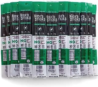 Nick's Sticks Free Range Turkey Snack Sticks - Gluten Free – Paleo, Keto, Whole30 Approved – No Sugar, Soy, Antibiotics or Hormones (25 – 1.7oz. Packages of 2 Sticks)