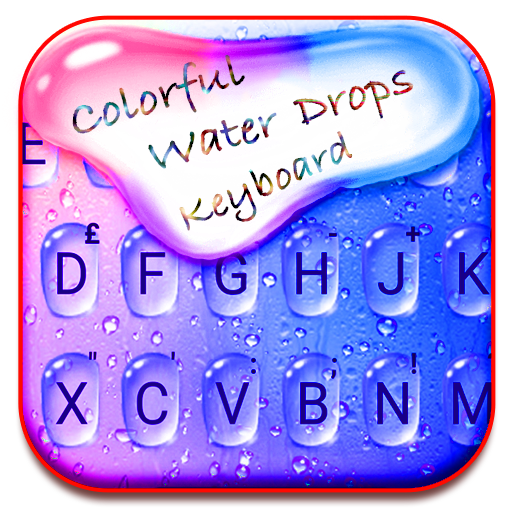 Colorful Water Drops Keyboard - Color Drops Themes