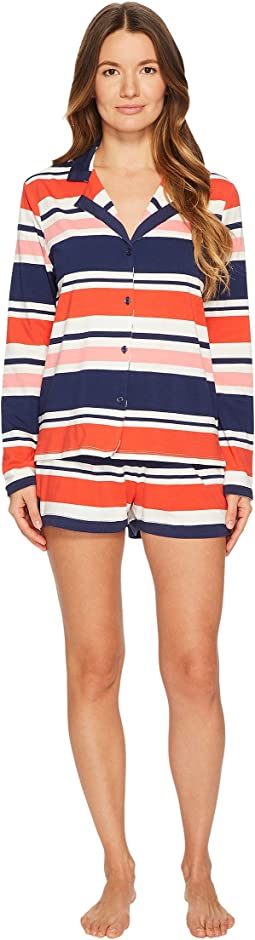 Kate Spade New York Multi Stripe Short Pajama Set