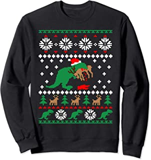 Trex Eating Reindeer Shirt Christmas Sweatshirt