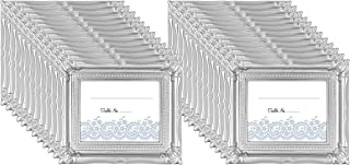 MCS Wedding Photo Frame/Placecard Holder, 69041, 24-Pack, Silver
