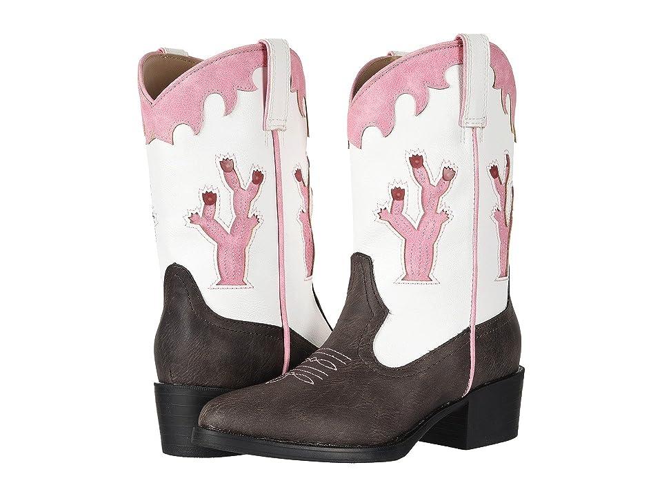 Roper Kids Desert Lights (Toddler/Little Kid) (Faux Leather Vamp/Cactus Lights) Cowboy Boots