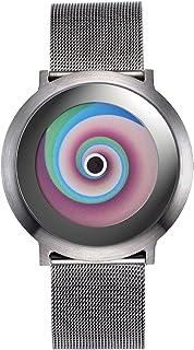 2014L012 - Reloj analógico de Cuarzo Unisex con Correa de Acero Inoxidable, Color Plateado