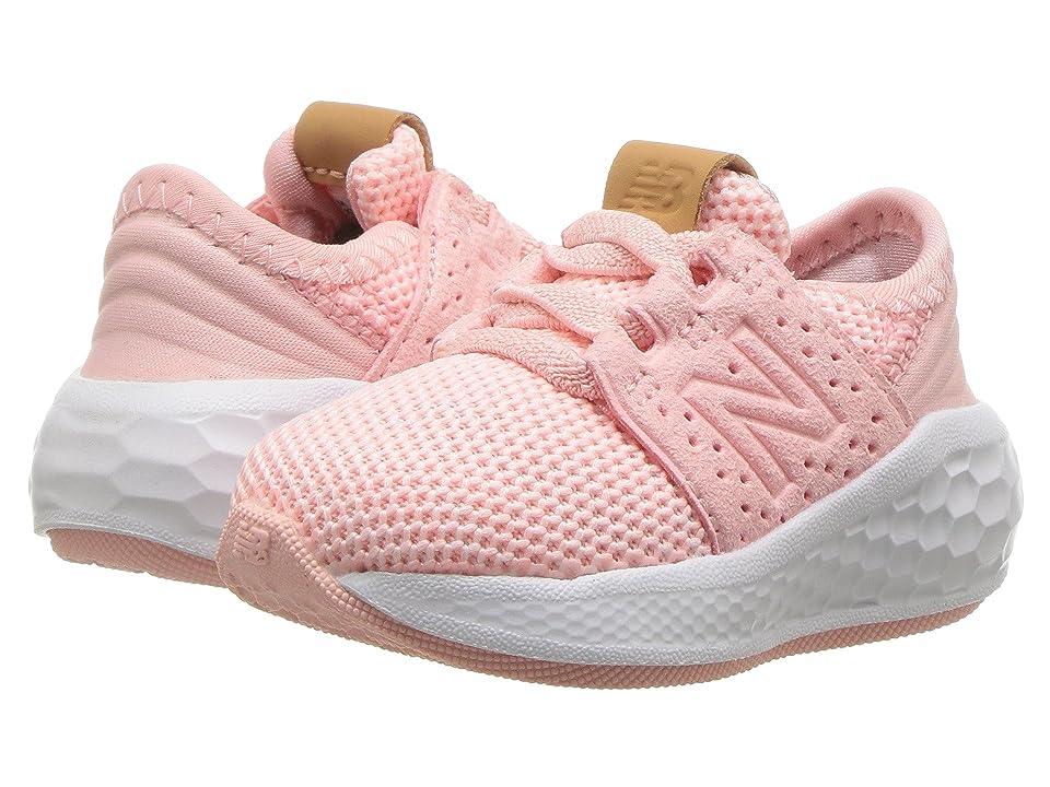 New Balance Kids KVCRZv2I Knit (Infant/Toddler) (Himalayan Pink/White) Girls Shoes