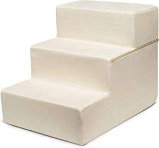 Made in USA Foldable Pet Steps/Stairs with CertiPUR-US...