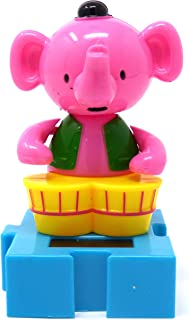 #225 Pink Elephant Solar Dancing Animal Circus Show Toys by Greenbrier