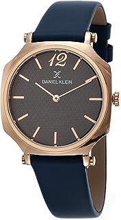 DANIEL KLEIN Premium Alloy Case Genuine Leather Band Ladies Wrist Watch - DK.1.12519-6
